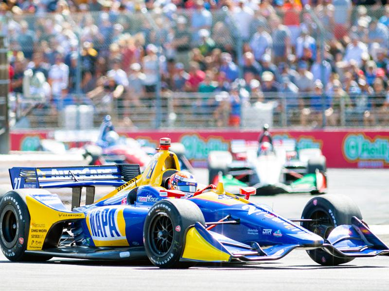 INDYCAR vehicles on track during the 2019 Grand Prix of Portland at PIR