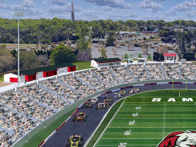 ​​​​​​​North Carolina's Bowman Gray Stadium rendering