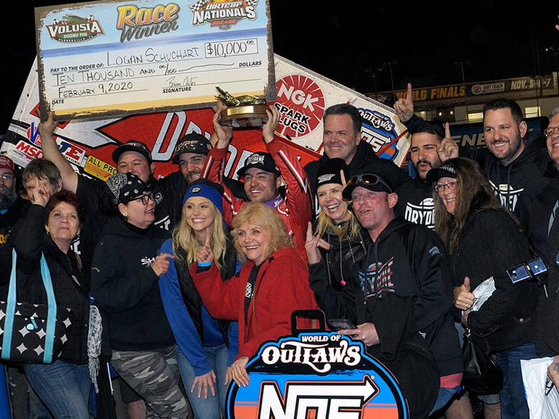 Photo of Victory Lane by Steve Bischoff courtesy of World of Outlaws