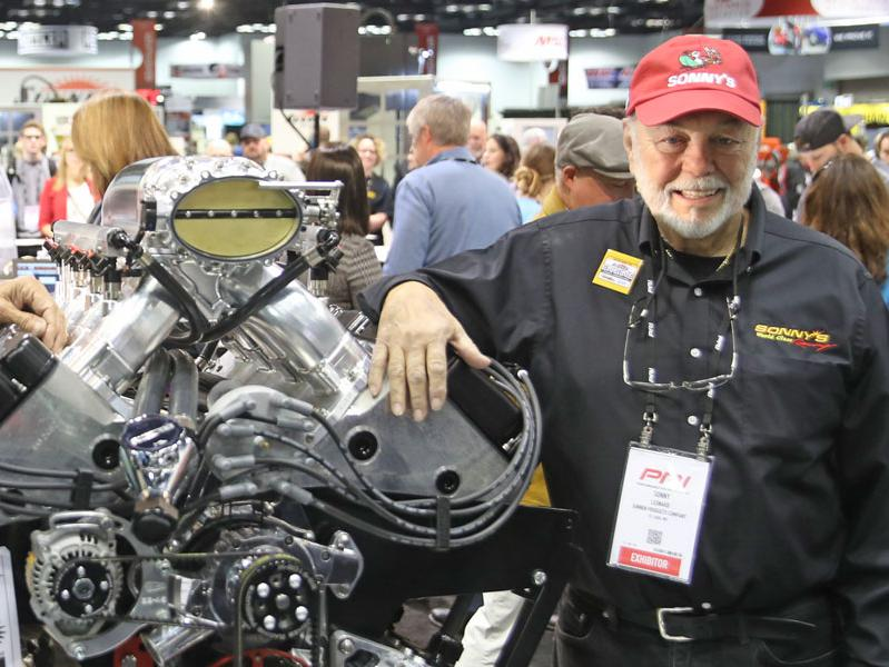 Sonny Leonard, pictured above, at the 2019 PRI Trade Show